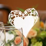 Love Heart Glass Place Cards