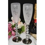 Pave Stone Champagne Flutes
