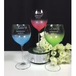 Haze Coloured Wine Glasse