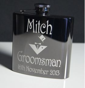 Black Stainless Steel Hip Flask