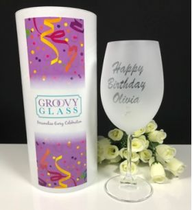 Party Glass Fully Etched